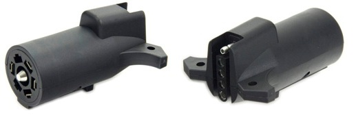 Electrical Connectors - Adapters ADAPTER 7 RV 5 FLAT PKG POLLAK TULSA OK @ HITCH IT TRAILERS