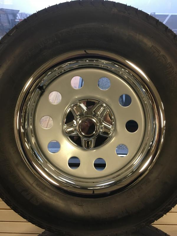 """Chrome Rings and Centers for 15"""" 5 Lug wheels"""