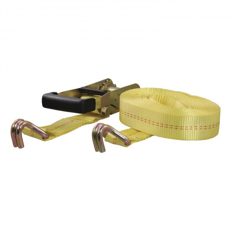 CURT Cargo Strap 2inx27ftx3300WLL 1Pk Yellow
