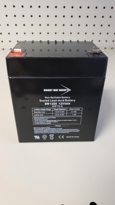 BATTERY FOR BREAKAWAY BOXES 12V5AH ITEM