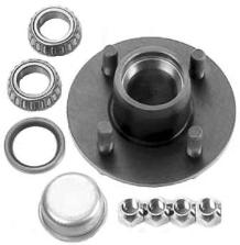 Complete Trailer Hub Kits 4 LUG FOR 2K AXLE  with Bearings Seal Races Nuts TULSA OK @ HITCH IT TRAILERS