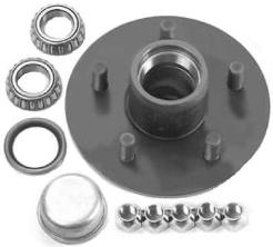 Complete Trailer Hub Kits 5 x 4.5 with Bearings Seal Races Nuts TULSA OK @ HITCH IT TRAILERS
