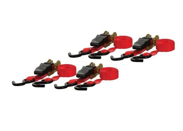 "Ratchet Straps - 1"" x 16' 500# - Set of 4"