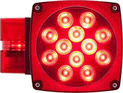 LED over 80 combination tail light drivers side