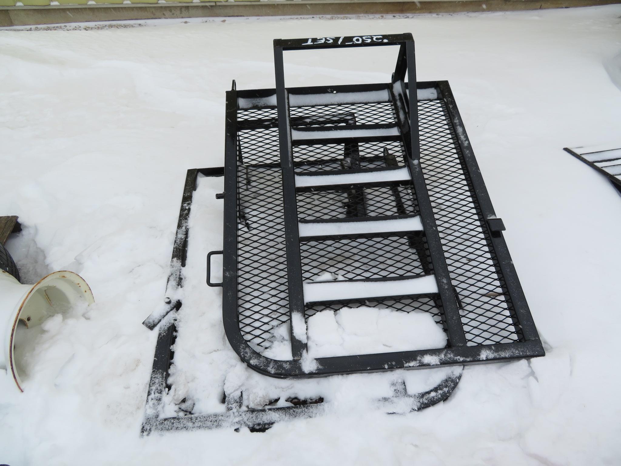 PJ Trailers Split Heavy Duty Ramp Gate - Black