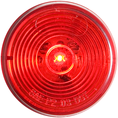 2 Inch LED Red marker/clearance light grommet mount