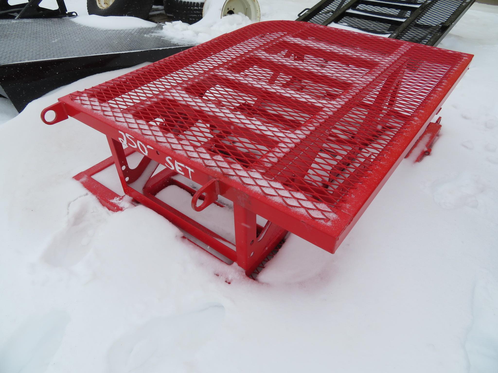 PJ Trailers Split Heavy Duty Ramp Gate - Red