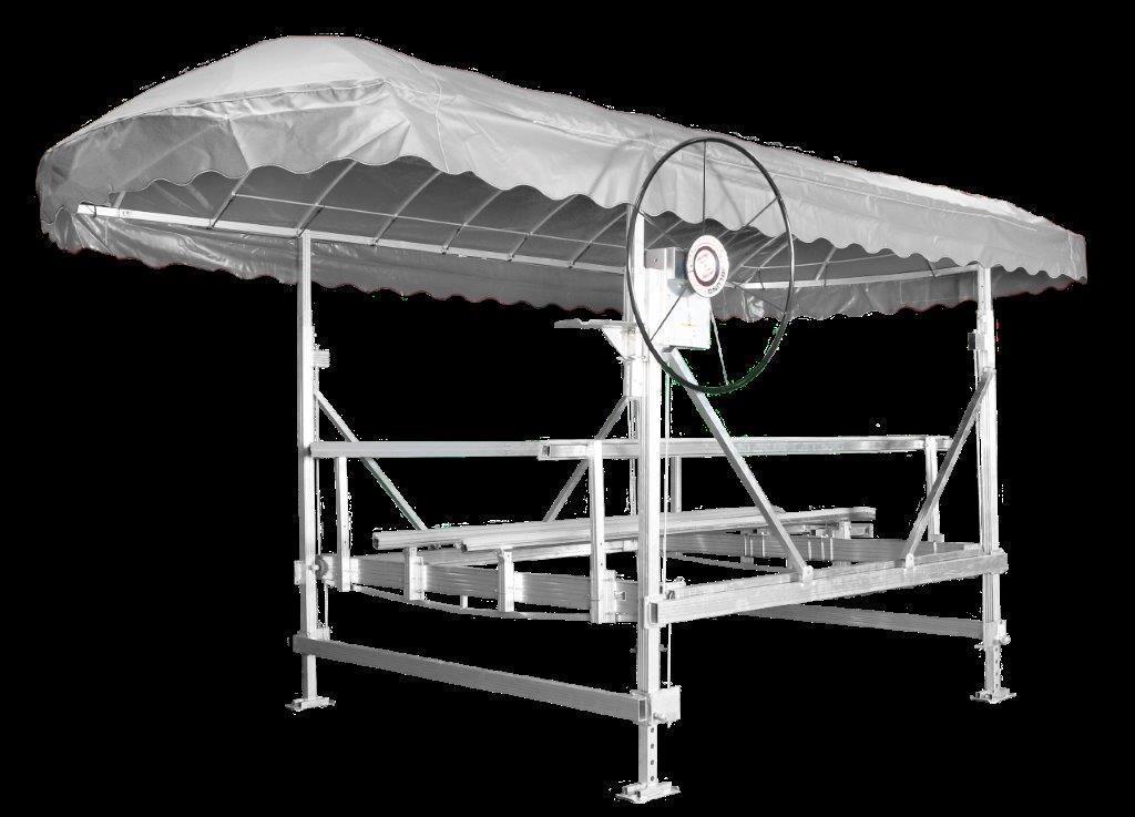 """3000 lb 108"""" ALUMINUM VERTICAL BOAT LIFT by JBLUNDDOCK.COM"""