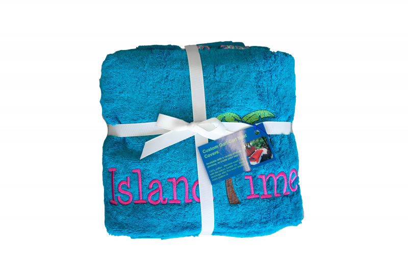 Golf Cart Seat Cover   Teal   Island Time