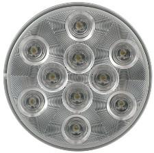 "LED Backup Light CLEAR 4"" ROUND FLUSH MOUNT 4.31"""