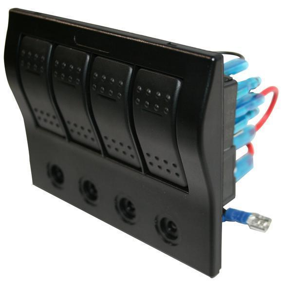 4- Switch Panel w/Lighted Breakers