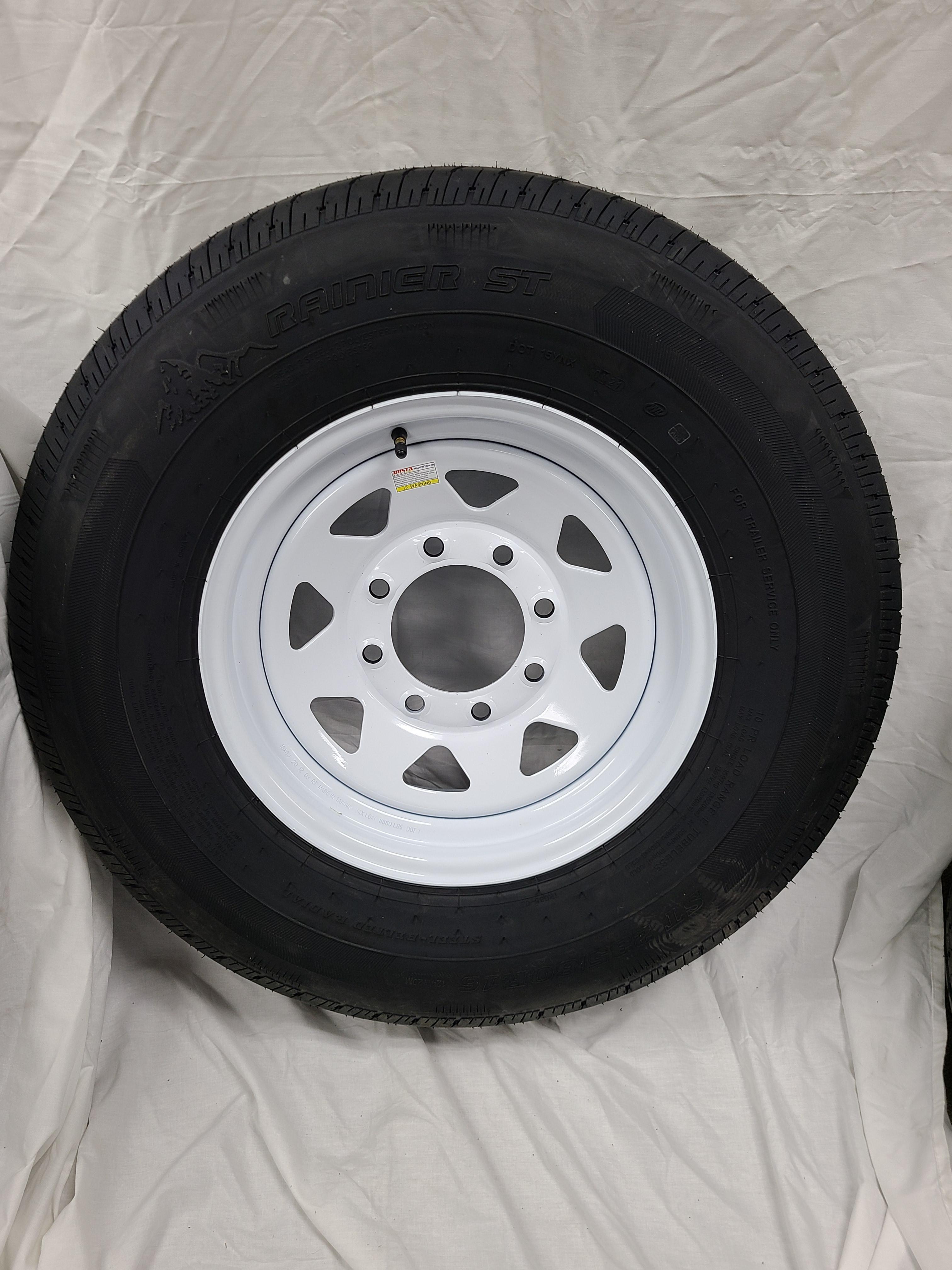 ST235/80/R16 Load Range E 8 Lug white Spoke