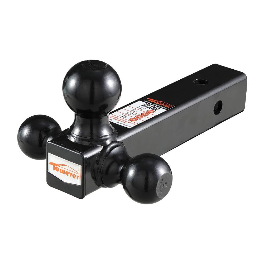 "Towever Receiver Hitch - Tri-Ball (1 7/8"" x 2"" 2 5/16"") (1 3 & 5 Ton Rating)"