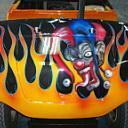 Jester Black/Orange Flames
