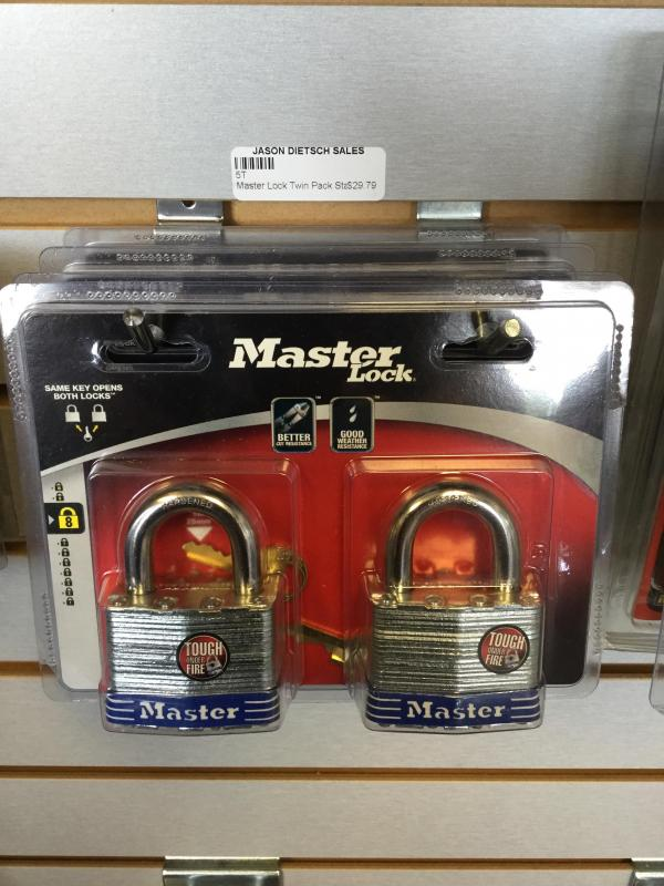 Master Lock Twin Pack