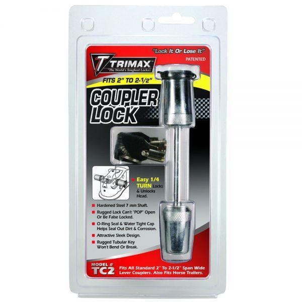 TRIMAX TC2 2 1/2″ Span - Coupler Lock Pins/Trigger Coupler Locks TRAILER AND TOW RV and Marine
