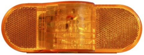 LED Clearance Marker Light LED 6 IN SEALED OVAL AMBER SIDE MARKER WITH TURN SIGNAL