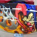 Jester Black/Orange Silver Tribal