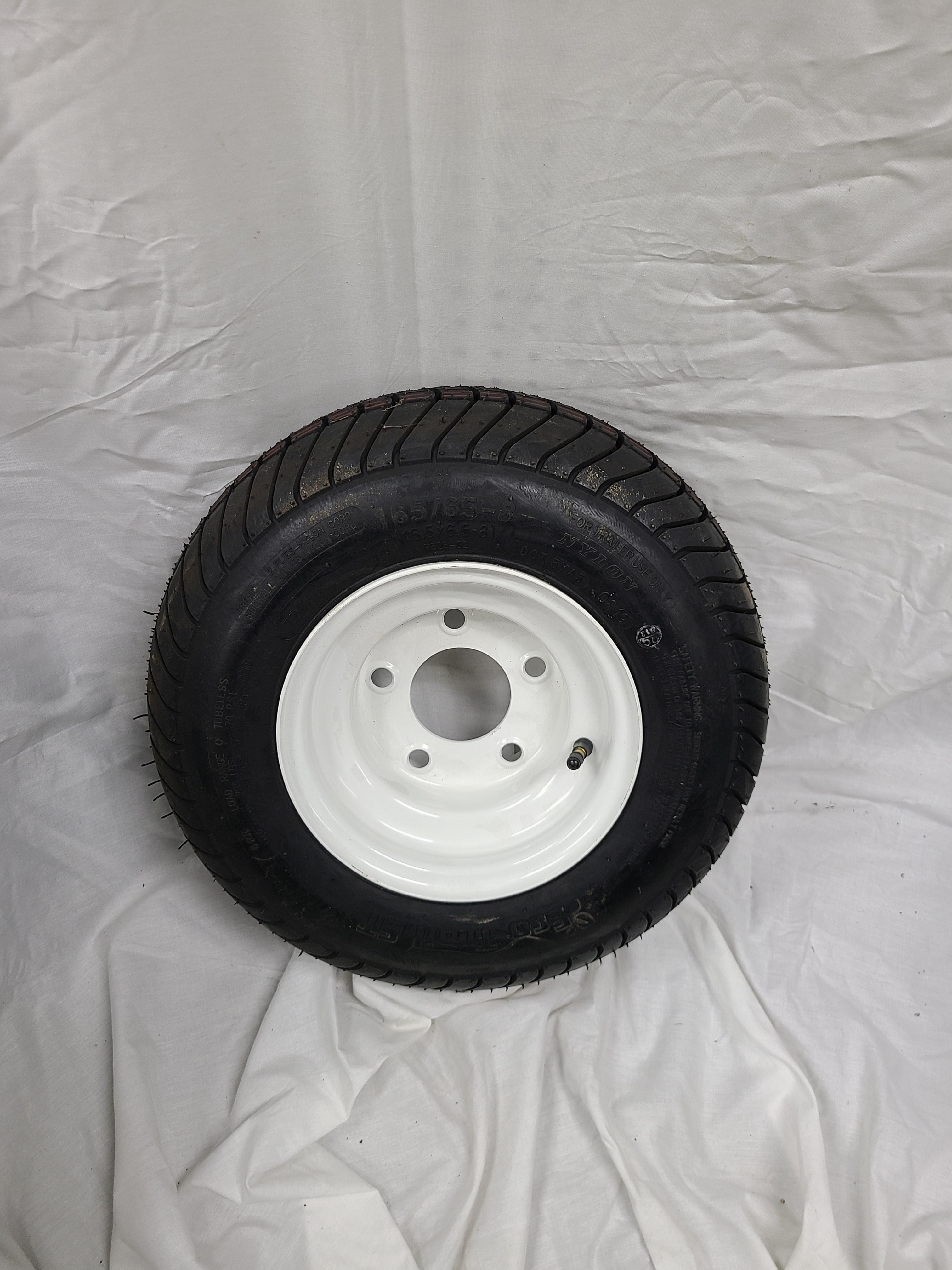 16.5X6.5X8 Trailer Wheel 5 Lug White