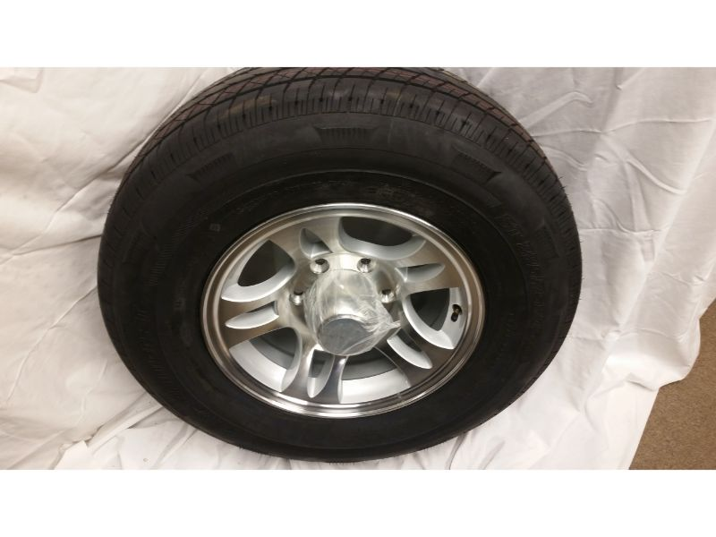 ST225/75/R15 Trailer Wheel/Radial Tire, 6 Lug Aluminum Split Spoke Wheel