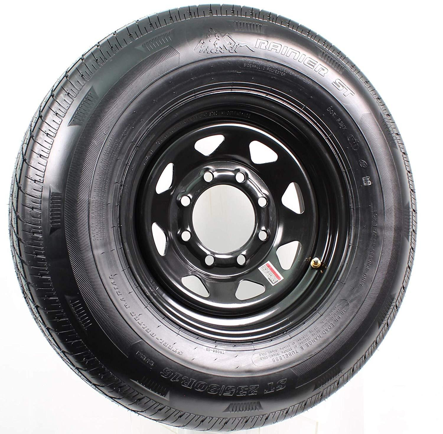 Spare Tire and Rim (235/80R16 - 8 Bolt) - Big Tex Trailers