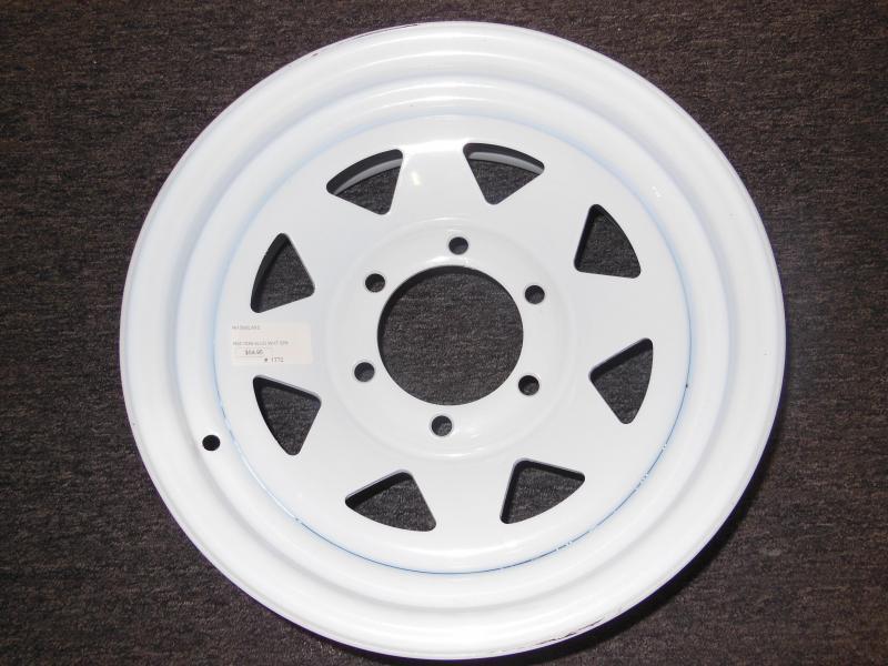 RIM ONLY  15 X 6   6 LUG  WHITE SPOKE