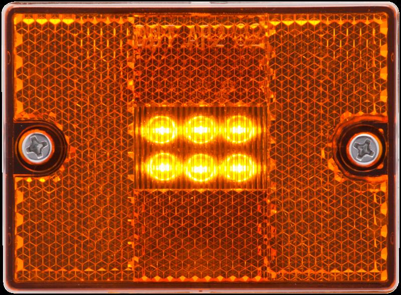LED C/M SQUARE AMBER STUDMT REFLEX