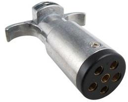 Electrical Connectors - Trailer End PLUG 6 RND TRL END ZINC
