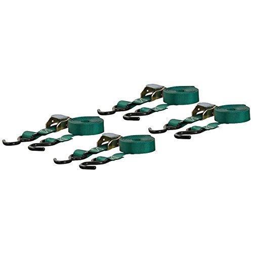 Curt Cargo Straps 1inx16ftx300WLL 4Pk Green