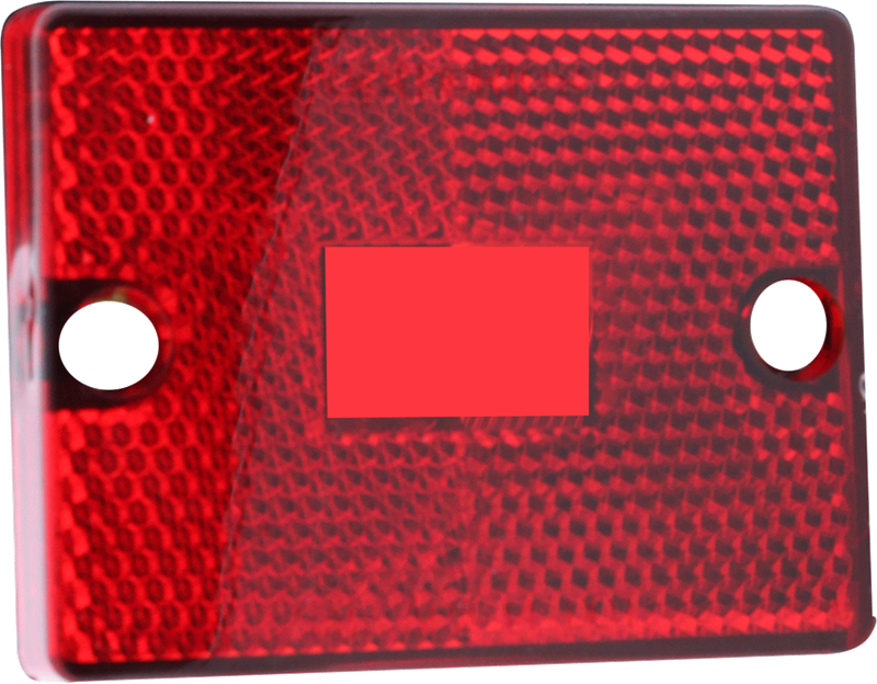 LENS C/M RED RECT