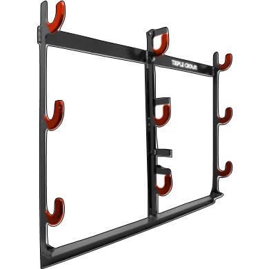 3 Place Weedeater Racks ~ Powder Coated ~ Lockable for OPEN trailers