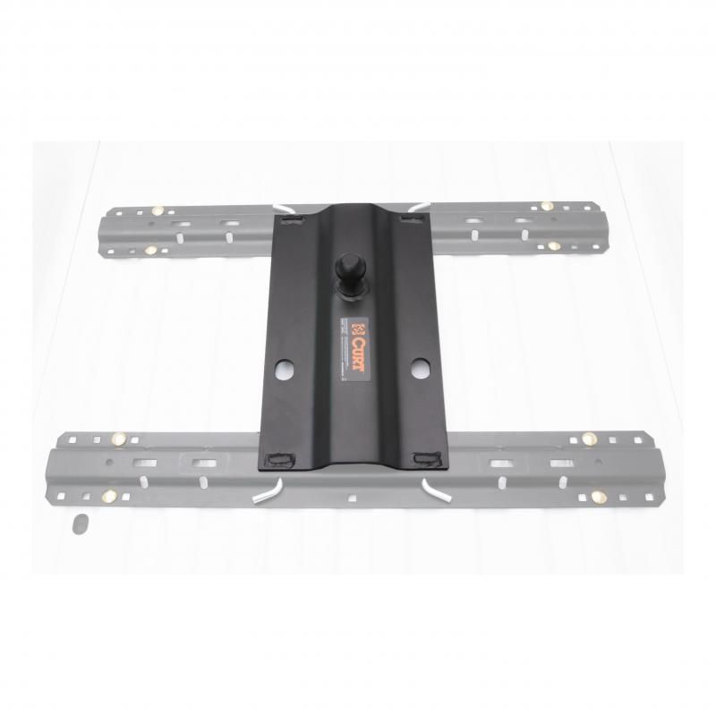 BENT PLATE 5TH WHEEL RAIL GOOSENECK HITCH WITH BALL OFFSET 3