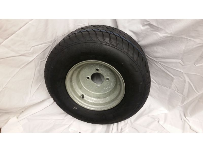 20.5X8.0X10 Trailer Wheel/Radial Tire, 4 Lug Galvanized