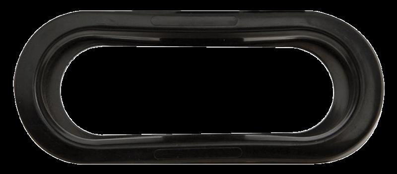 GRMT 6 OVAL OPEN-BACK PVC FLUSH MT 6.5 C/O