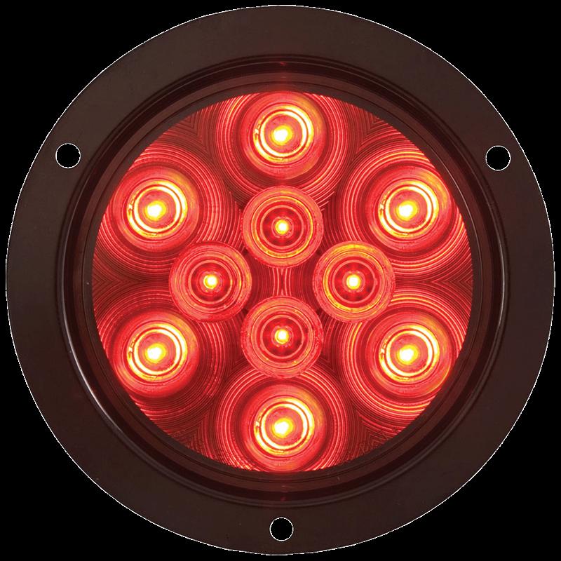 LED STT 4 RND 10D RED FLUSH MT LIGHT ONLY