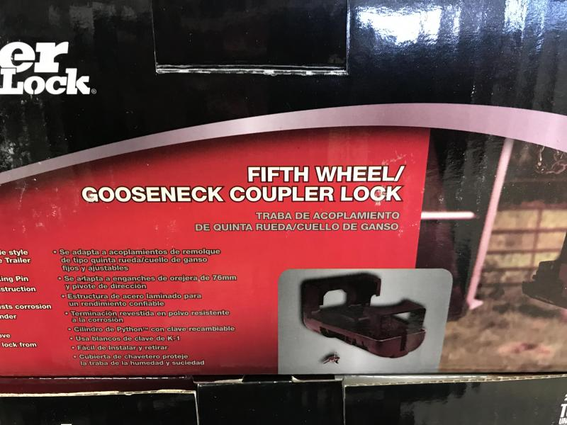 Fifth Wheel/Gooseneck Coupler Lock