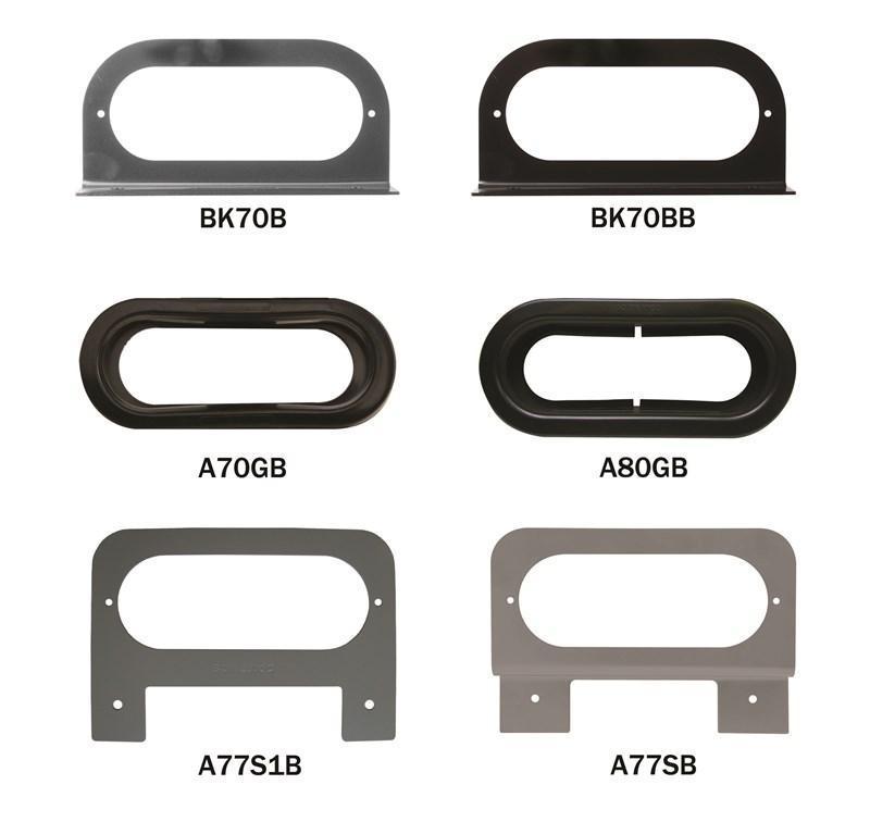 "6"" OVAL GROMMETS/BRACKETS Mounting Grommets & Brackets for Sealed 6"" Oval Lights"