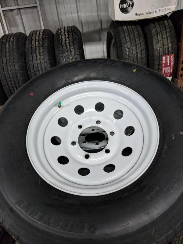 "15"" 6 LUG WHITE MOD WITH WESTLAKE LRE 225/75 RADIAL TIRE"