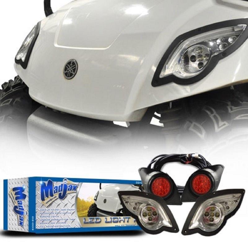 AVAILABLE TO ORDER MadJax Yamaha G29 Golf Cart 2007-Up LED Light Kit w/ LED Tail Lights (02-003) $149