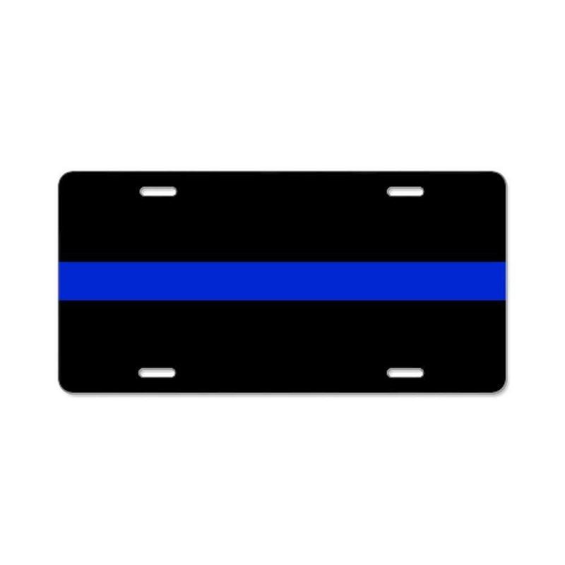CafePress - Thin Blue Line License Plate