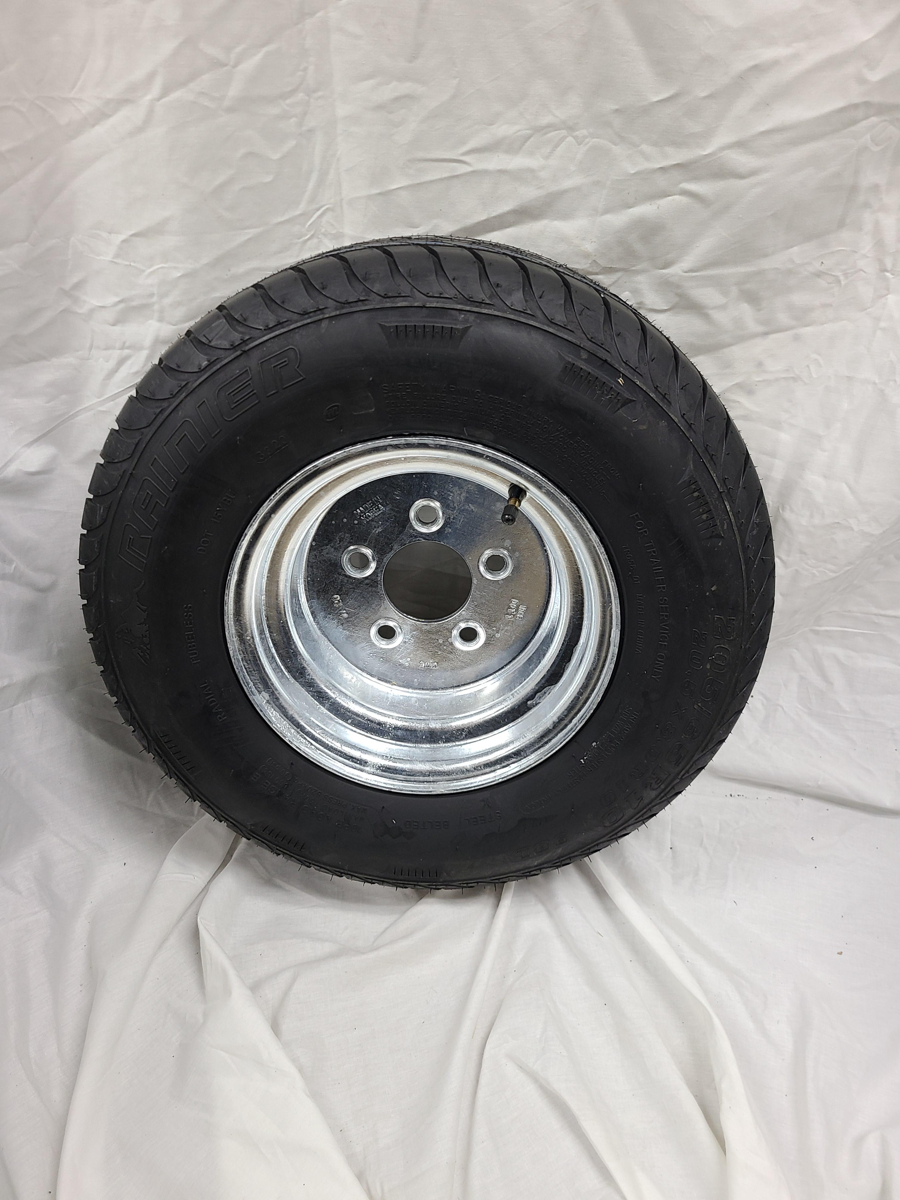 20.5X8.0X10 Load Range E Tire 5 Lug Galvanized
