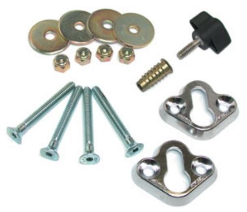 Removable Wheel chock Mounting Kit