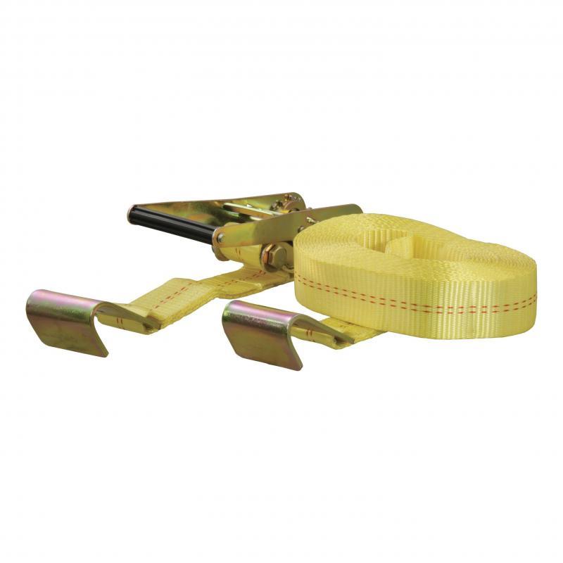 CURT Cargo Strap 2inx27ftx3333WLL 1Pk Yellow