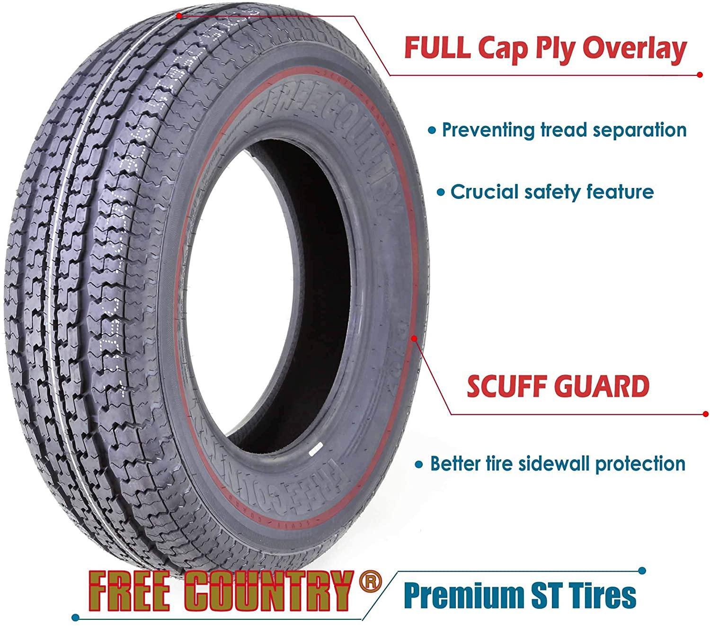 TIRES - 205/75R15 8PR Load Range D Trailer Tires