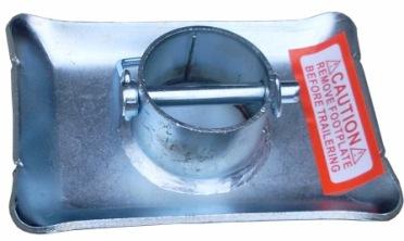 JACK FOOT Pin Lock 2K Zinc 1.7 Foot Tube Height For 2 Tube