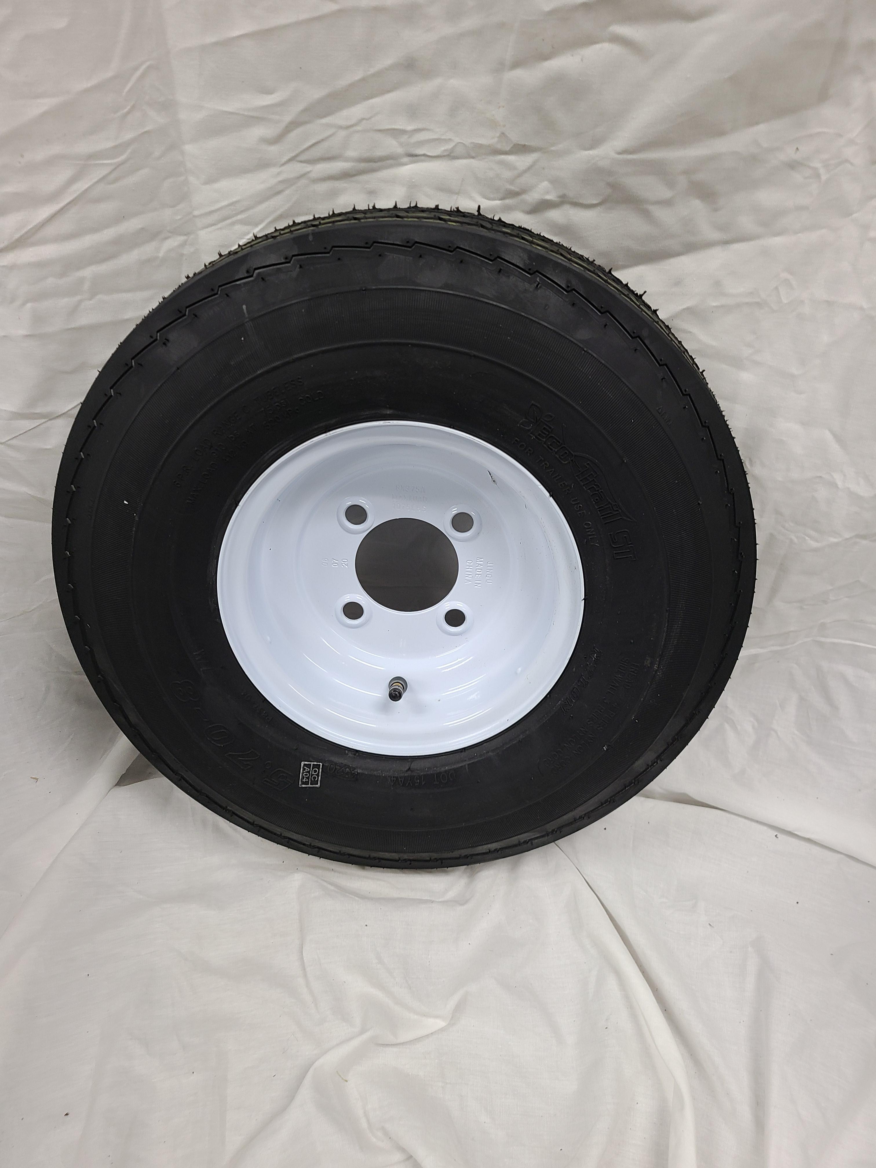5.70X8 Trailer Tire Load Range C 4 Lug White