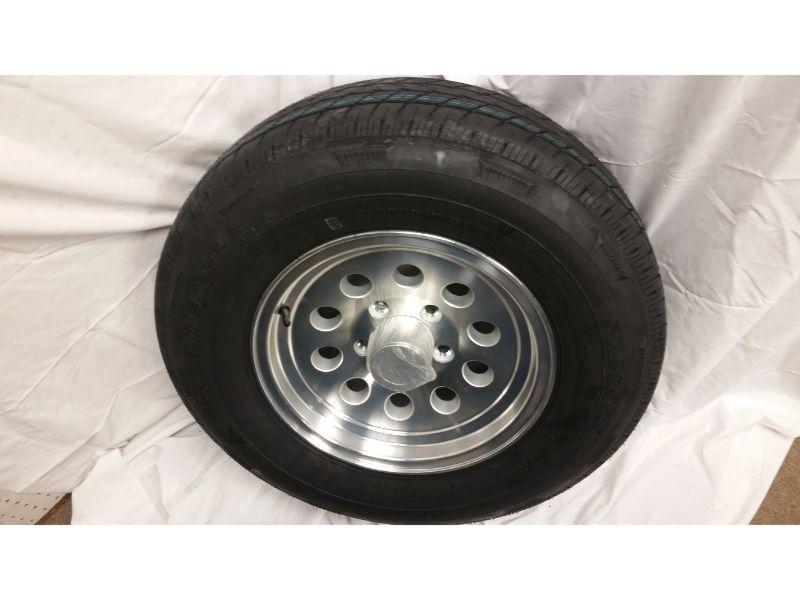 ST205/75/R14 Trailer Wheel/Radial Tire, 5 Lug Aluminum Mod Wheel