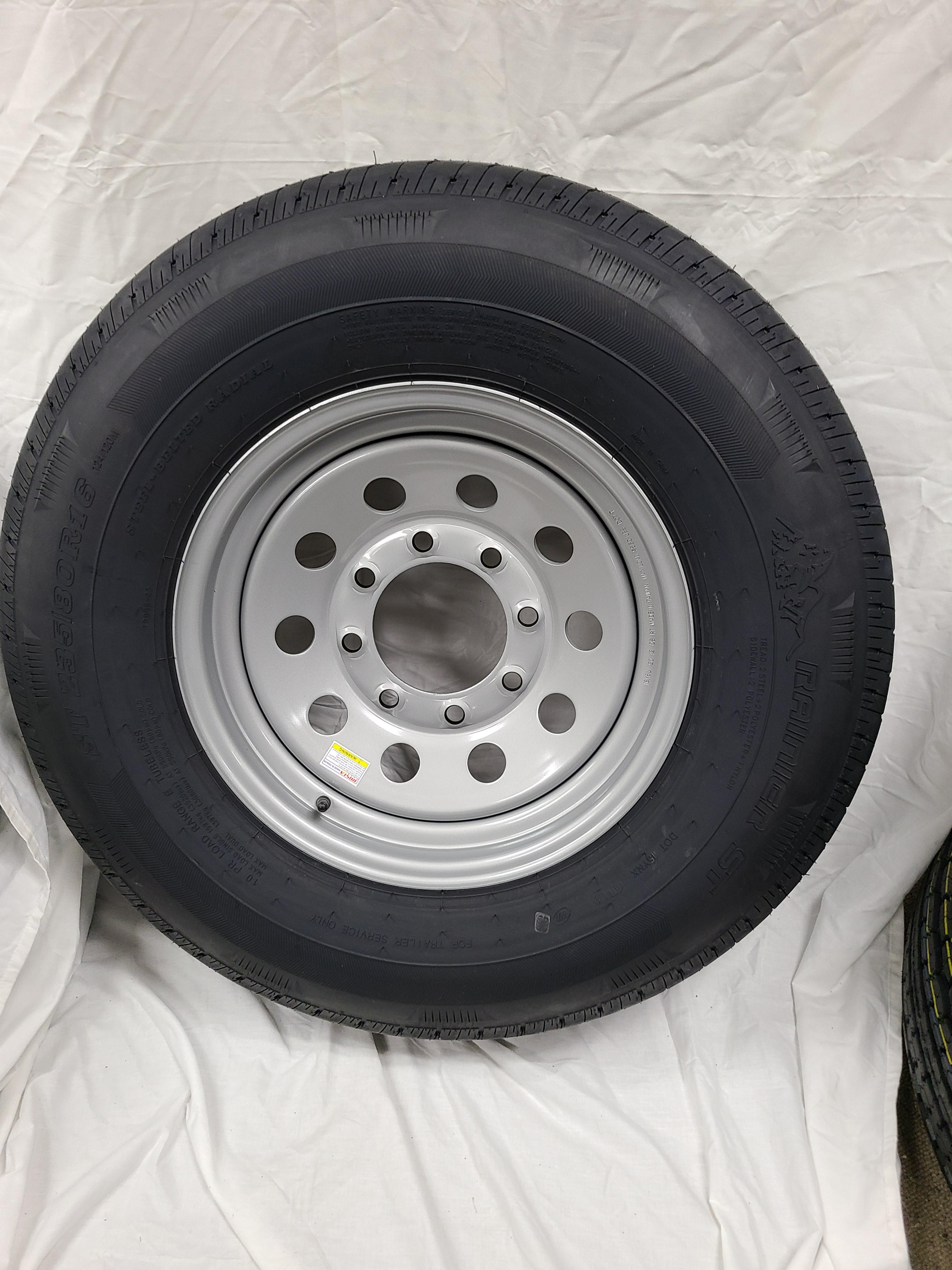 ST235/80/R16 Load Range E 8 Hole Silver Mod