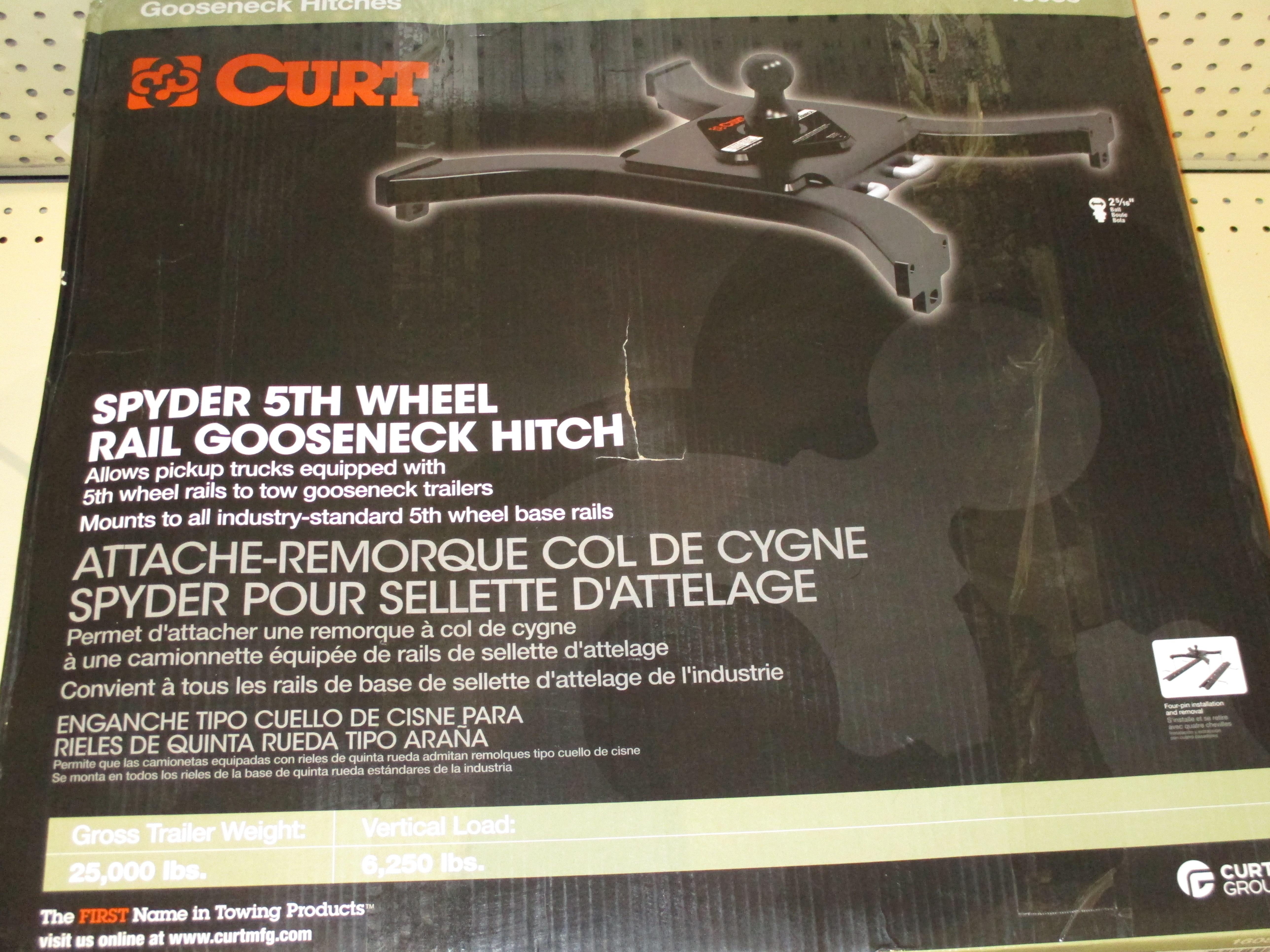 Curt Spyder 5th Wheel Rail Gooseneck Hitch