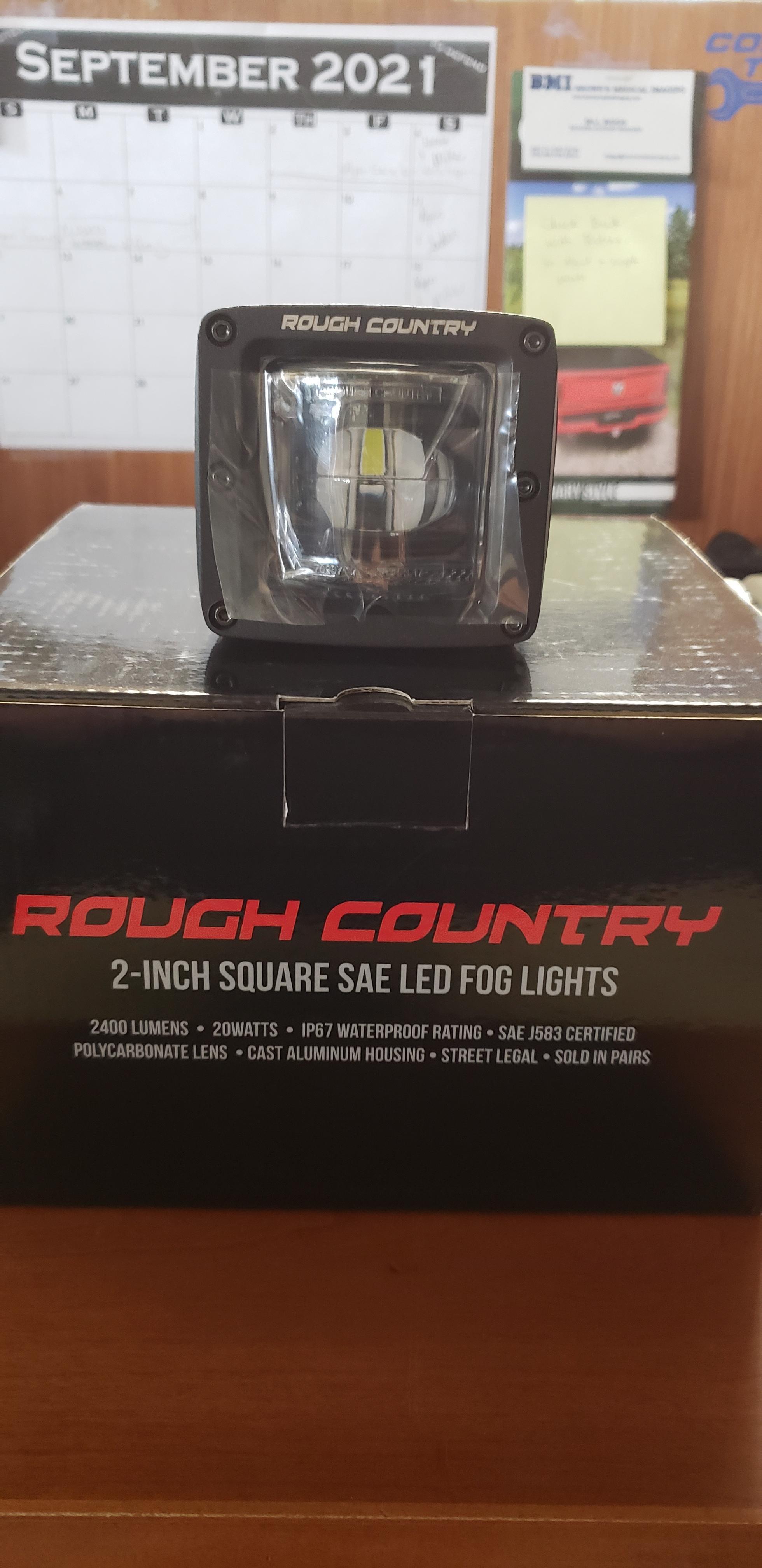 2-inch SQUARE LED SAE FOG LIGHTS